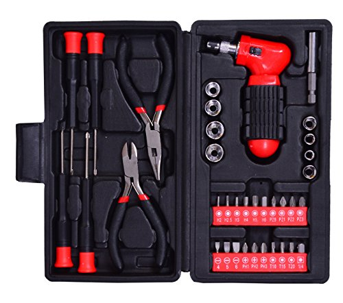 Visko ST9254 Hand Tool Set (Red, 37-Pieces)