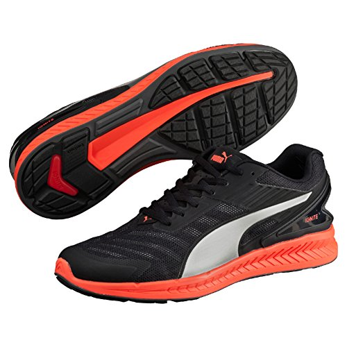Puma Ignite v2 - Zapatillas de running para hombre, color negro (black/asphalt/red blast/aged silver), talla 43
