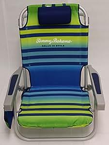Tommy Bahama Chaise De Plage 224 Dos Bleu Vert Amazon Fr