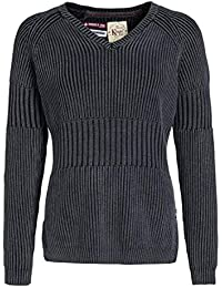khujo Damen Pullover UNICE leicht taillierter Strickpullover aus Reiner  Baumwolle 9c9e27f164