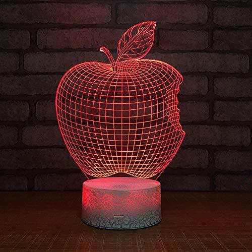 Apfel Form Tischleuchte 3 Aa Batterien Oder Usb-Kabel Powered Schöne Acryl Material Panel Abs Basis Für Tischdekoration Und Nacht Dekoration ()