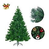 FROADP 210cm Künstlicher Grün PVC Weihnachtsbaum Tannenbaum Kiefernadel (Grün PVC, 210cm)