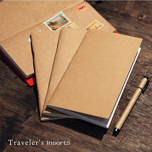 - fügt für Traveler 's Notebook, Set mit 4notebooks- blanko/liniert/quadratisches Raster/Dot Grid Papier Regular Size