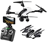 Simulus Drohnen: Faltbarer WiFi-FPV-Quadrocopter mit HD-Cam, 2,4-GHz-Fernsteuerung, App (Quatrocopter)