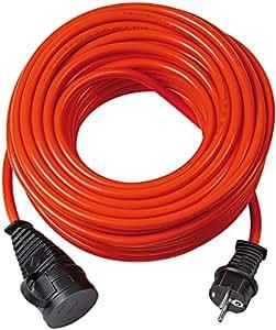 Brennenstuhl Bremaxx Verlängerungskabel (20 m Kabel, für kurzfristigen Einsatz im Außenbereich IP44) rot