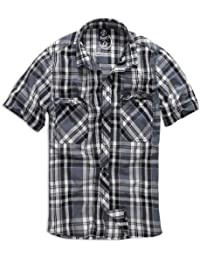 e053e996f4c79 Brandit Roadstar - Camisa casual - con botones - manga corta - para hombre