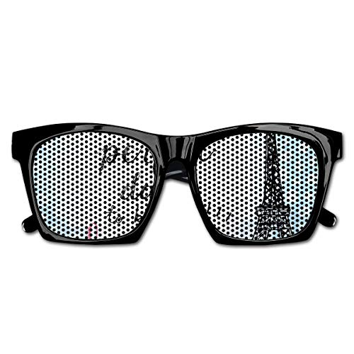 Mesh sunglasses sports polarized, perfect day eiffel tower polka dot handwriting typography sketch paris print,fun props party favors gift unisex