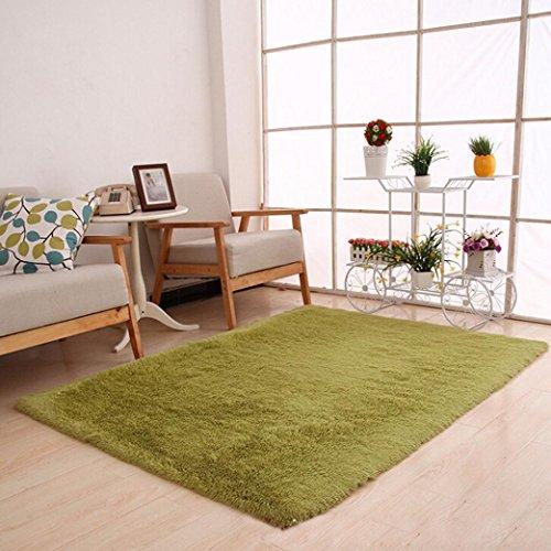 4' Waschen (Makaor rutschsicheren Flauschig Weich Shaggy Teppich Bereich Teppich Esszimmer Schlafzimmer Teppich Fußmatte Modern Size: 50cmx 80cm/19.68x31.49inch Armee-Grün)