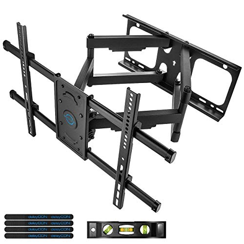 deleyCON Universal TV Soporte de Pared - 32' - 75' Pulgadas (81-190cm) - Inclinable Giratoria hasta 66kg & VESA 600x400mm - Distancia de la Pared Variable TV LCD LED OLED