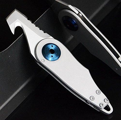 penixon KE70 Edelstahl Taktisches Taschenmesser mit Schlüsselanhänger| Survival Mini Cutter |...