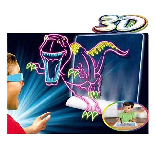 WDXIN Reißbrett der Kinder 3D Magische tragbare geführte Reißbrett-magnetische Lernkommode für frühkindliche Bildungs-Spielwaren für alle Kinder über 3 Jahre alt