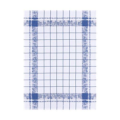 Le Jacquard Francais Torchon Fraises Coton Bleu de France 60 x 80 cm