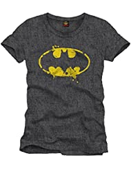 T-Shirt Batman GRUNGE SYMBOL Black - Licence Officielle