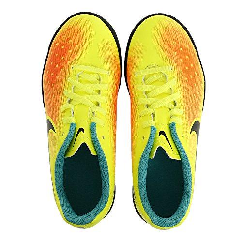 Nike Jr Magistax Ola Ii Tf, Chaussures de Foot Garçon Amarillo (volt/black-total orange-clear jade)