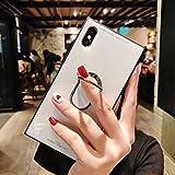 WETERS TéléPhone ÉTui, de Miroir en Verre, Tout Inclus, Antichoc, Anti-Chute, pour iPhone XS Max,XR,XS,X,8/7plus,8/7,6s/6plus,6s/6,White,XSMax