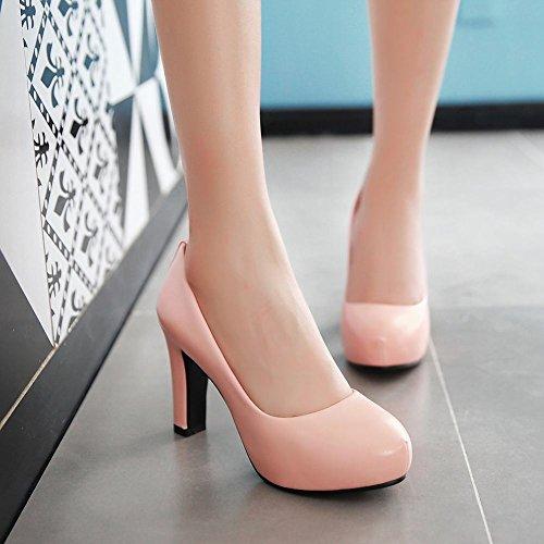 Mee Shoes Damen high heels inner Plateau Geschlossen Pumps Pink
