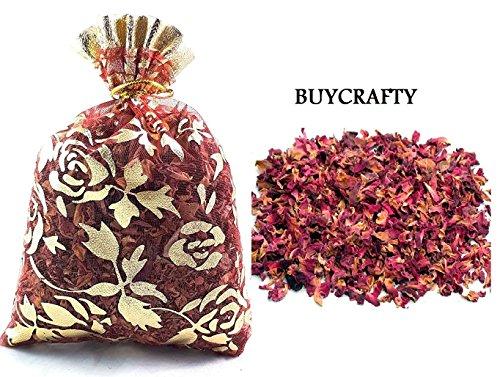 Buycrafty getrocknete Rosenblüten-Beutel, 20 g, Tee, Potpourri, Hochzeit, Dekor, Bio-Kräuterhandwerk, Auto, Parfüm -