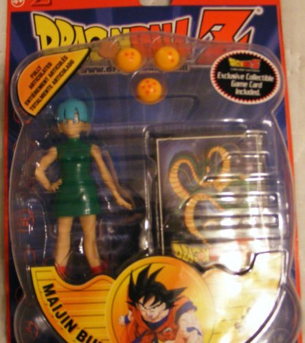 Dragon Ball Z BULMA 5 Action Figure 2002 Maijin Buu Saga w/ Promo Card