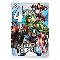 Hallmark 25485400 22.8 cm X 0.2 cm X 15.9 cm Marvel Avengers Memory Game 4th Birthday Card