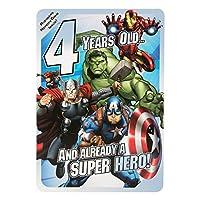 Hallmark Marvel Avengers 4th Birthday Card
