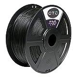 CTC 3D Drucker Filament PLA, PLA Filament 1.75mm, geringe Geruchsabmessung Genauigkeit +/- 0.02mm für 3D Drucker & 3D Pens - 2.2 LBS (1 KG) Filament (Schwarz)