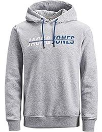 41534239c71f74 JACK   JONES Herren Kapuzenpullover Hoodie Core Storm Sweatshirt Corp Logo  12137054 S M L XL XXL (