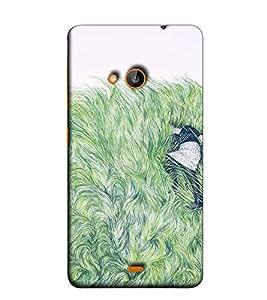 Fuson Designer Back Case Cover for Nokia Lumia 730 Dual SIM :: Nokia Lumia 730 Dual SIM RM-1040 (Lady In Feather Theme)