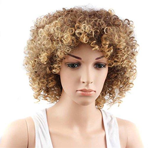 XY-QXZB Perücken Europa und die Vereinigten Staaten Mode Afrikanische schwarze Dame kleine Volumen kurze Haar (Alte Für Kinder Kleine Kostüm Leute)