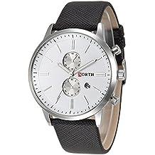 Relojes de Hombre - NORTH moda hombres casual delicado diseno fecha cuero de la PU militar reloj regalo Blanco