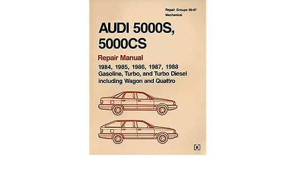 Audi 5000s 5000cs Official Factory Repair Manual 198488 Gasoline Rhamazoncouk: 1988 Audi 5000 Wiring Diagram At Gmaili.net