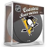 Sher-Wood Pittsburgh Penguins NHL Eishockey Puck Untersetzer (4er Set)