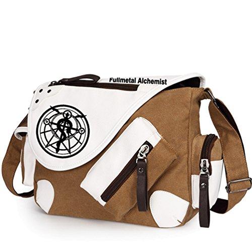 Yoyoshome giapponese anime Cosplay zaino Zaino messenger bag borsa a tracolla nero Fullmetal Alchemist Fullmetal Alchemist1