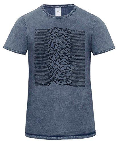LaMAGLIERIA Camiseta Hombre Efecto Denim Joy Division Japan D...