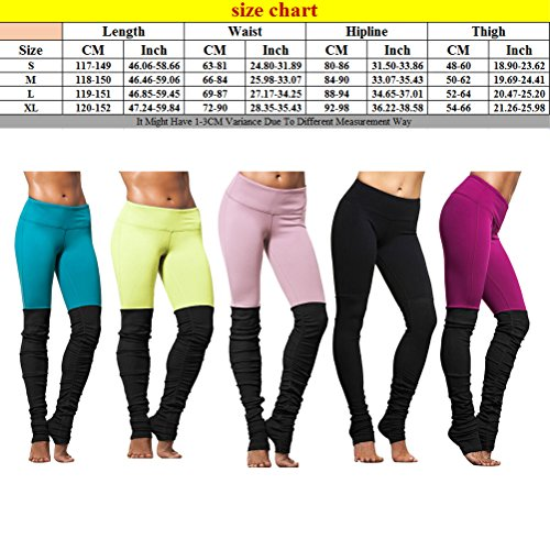 Zhhlaixing Womens Running Yoga Pants Elasticity Fitness Leggings mouvement Trousers YBA Black