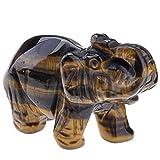 JOVIVI Deko,Reiki Edelstein Kristall Elefant Figur Ornamente Dekoration Tierplastik Deko Masse LBH:...
