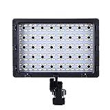 Hakutatz LED Videoleuchte Video Licht Kamera Licht mit 160pcs LED 3 Filter Metall Halterung für DSLR Kamera und Camcoder