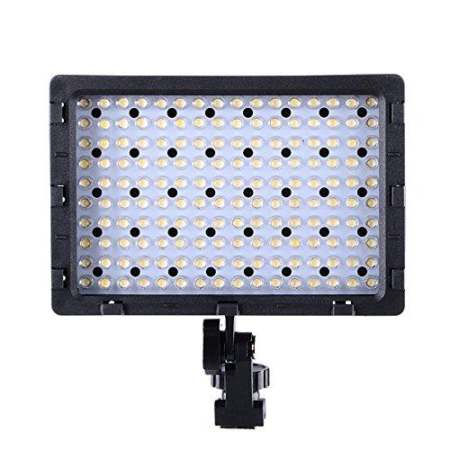 hakutatz-LED-luce-video-Video-fotocamera-Luce-con-160pcs-LED-3-Filtro-metallo-supporto-per-DSLR-fotocamera-e-videocamera