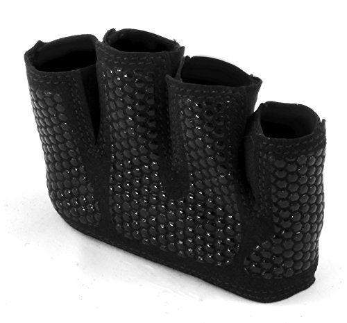 The-Gripper-Glove-Callus-Guard-Workout-Gloves-by-Fit-Four-for-Weightlifting-Cross-Training-Athletes-Enhanced-Silicone-Grip-Palm-Black-Medium
