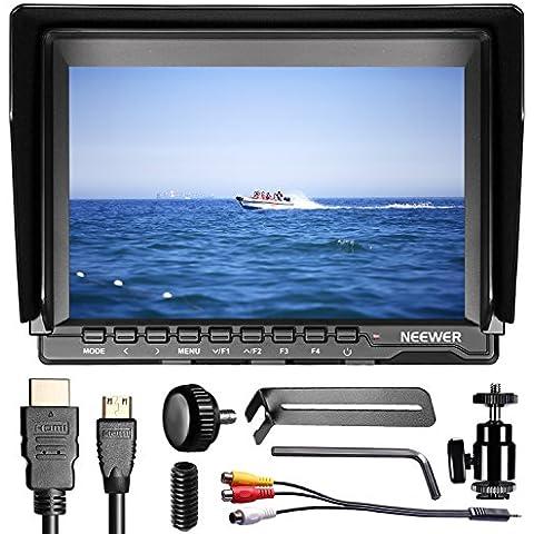 Neewer® NW74K 7 pulgadas Ultra HD 4K 1280x800 IPS pantalla de la cámara Monitor de campo, 16: 9 o 4: 3 Relación de pantalla ajustable para Sony Canon Nikon Olympus Pentax Cámaras Panasonic