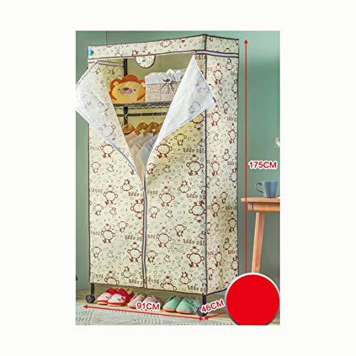 VIVOCCloset Portable Schrank lagerung Veranstalter Kleider Schrank, Stahlrahmen Robust Kabinett Kabinett Mit kleidzahnstange Funktionstextilie-E L91xH175xW46cm(36x69x18inch) -