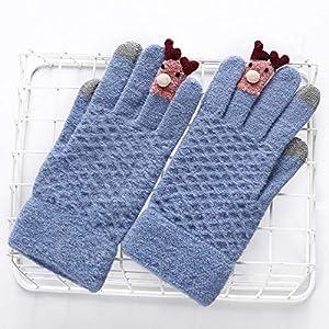 WWF Frauen Herbst Und Winter Warme Handschuhe Wolle Stricken Fünf-Finger-Handschuhe Winter Touchscreen Handschuhe Handschuhe