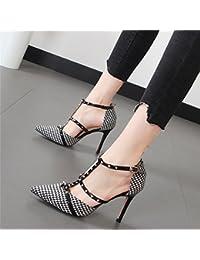 Xue Qiqi Remache señaló zapatos de tacón fino con solo zapatos Baotou Correa Yoo Jeong sandalias marea hembra,...