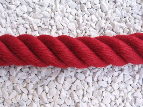 Handlaufseil Absperrseil 40 mm Farbe weinrot