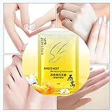 Hunpta Exfoliant l'humidité Blanc à la main Masque Peeling retirer rigide Peaux mortes Masque Maquillage jaune jaune