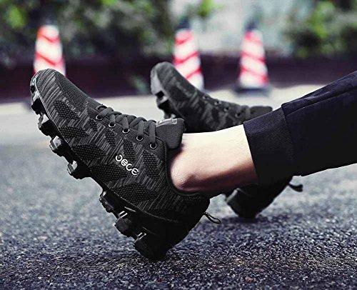 Zapatillas Deportivas Ligeras Para Hombres Zapatillas Deportivas De Malla Transpirables En Otoño Negro Zapatillas De Gimnasia Negras