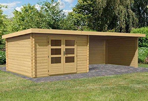 Karibu Woodfeeling Gartenhaus Bastrup 5 mit Schleppdach 4 Meter sowie Seiten- und Rückwand...