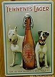 Blechschild Nostalgieschild Tennents Lager Beer Hunde Bier Werbeschild Nostalgie Schild