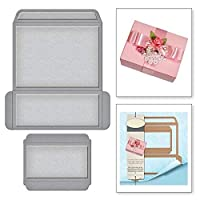 21sandwhick Cutting Dies Gift Box Metal Cutting Dies DIY Scrapbooking Paper Cards Craft Emboss Stencil Silver