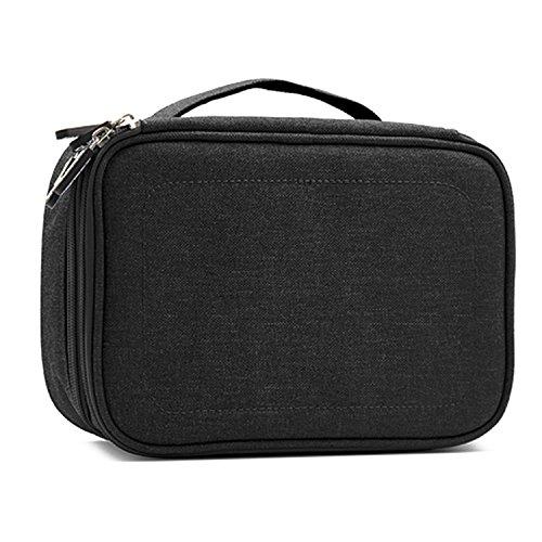 Sie Tragen Taschen Für Ipads (Gosear Universal Tragbar Reise Tragen Lager Schutz Tasche Doppelt Schicht Schutz Handtasche Fall Veranstalter zum iPad Profi Tablette Ladegerät Kabel Zubehör Schwarz)