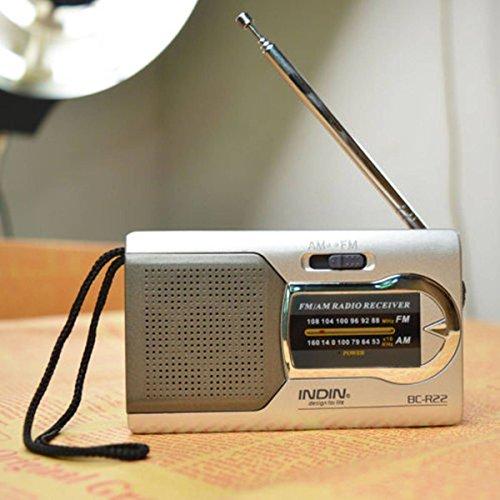 ELEGIANT Mini Tragbar AM / FM Teleskop Antenne Radio Weltempfänger im modernen Design